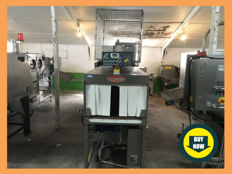CRYOVAC VS90 & ST90 VACUUM PACKING MACHINE & SHRINK TUNNEL at Food Machinery Auctions