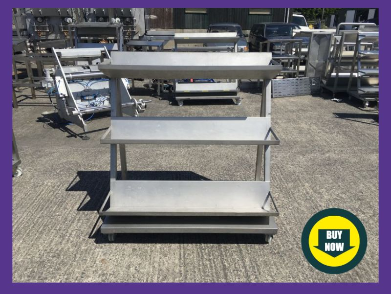Portable Stainless Steel Shelving Units at Food Machinery Auctions
