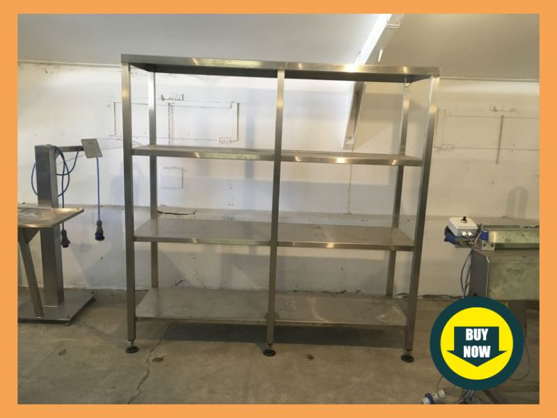 Stainless Steel Shelving Unit at Food Machinery Auctions
